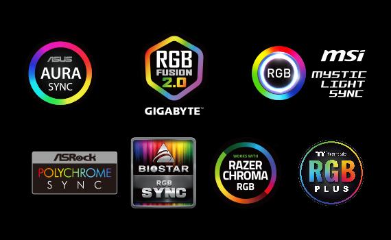 Supporte T-FORCE BLITZ, Aura Sync ASUS, Fusion GIGABYTE RGB, MSI Mystic Light Sync et ASRock Polychrome Sync.